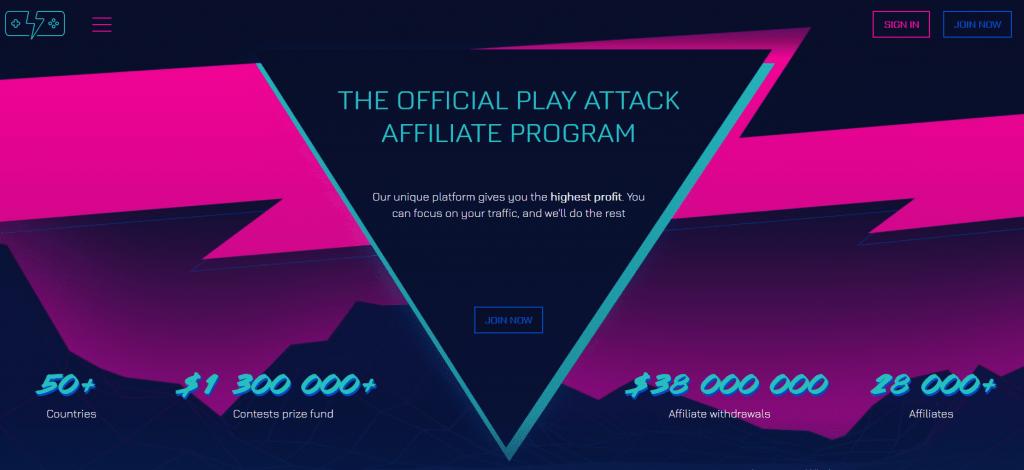 play attack - одна из крупнейших партнёрских программ казино.