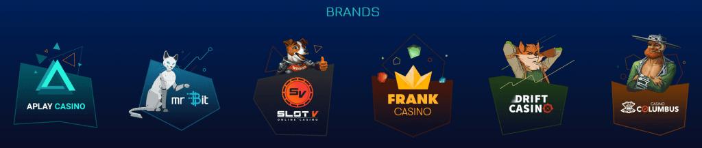 бренды казино в патнёрке playattack